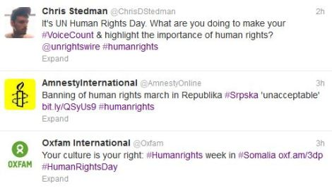 Human Rights Day Tweets